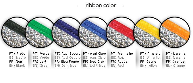 ribbon available colors
